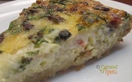 bacon spinach mushroom quiche