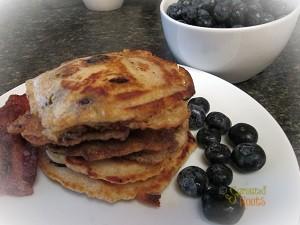 Gluten Free Blue Berry cream cheese Pancakes wp