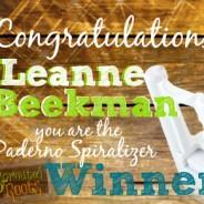 Paderno Spiralizer Winner!!!