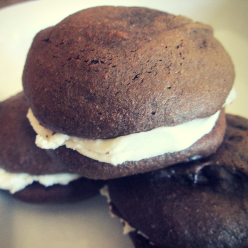 Gluten Free Double Chocolate Whoopie Pies-Sprouted Roots