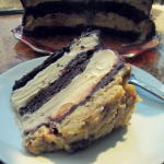 Flour-less German Chocolate Ice Cream Cake